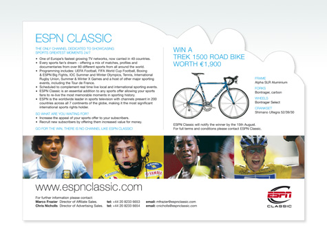 ESPN Classic Corporate Mailout with Competition
