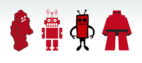 Red Robot Characters