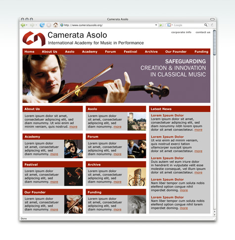 Camerata Asolo Website